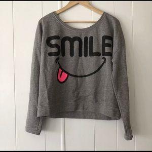 "Forever 21 Oversized ""SMILE"" Sweatshirt"